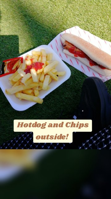 Hotdog and Chips outside!